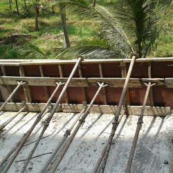 VKL-Gardens-Sreekariyam-Retaining-wall-shuttering-work-in-progress