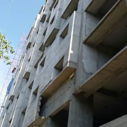 VKL-Gardens-Tower-A-Sreekariyam-External-Plastering-work-in-progress