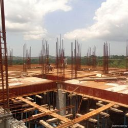 VKL-Santhi-Homes-Santhigiri-Pothencode-8th-floor-Steel-work-in-Progress