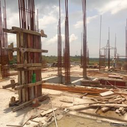 VKL-Santhi-Homes-Santhigiri-Pothencode-8th-floor-steel-work-in-progress-1