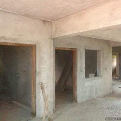 VKL-Santhi-Homes-internal-corridor-Plastering-in-progress